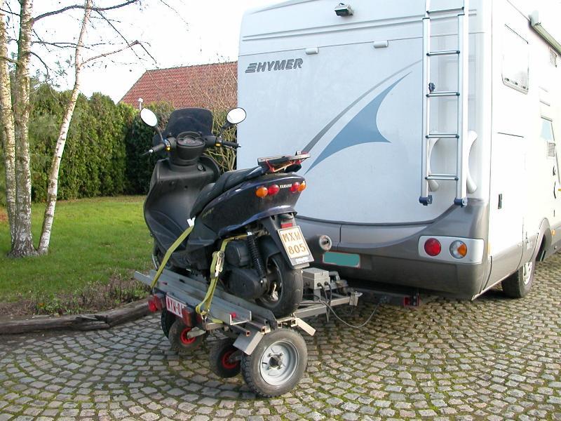 Photo du mois de campingcar76 de octobre 2007 - Remorque porte moto pour camping car ...